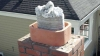 The process of relining a chimney whenever one or various components need repair.